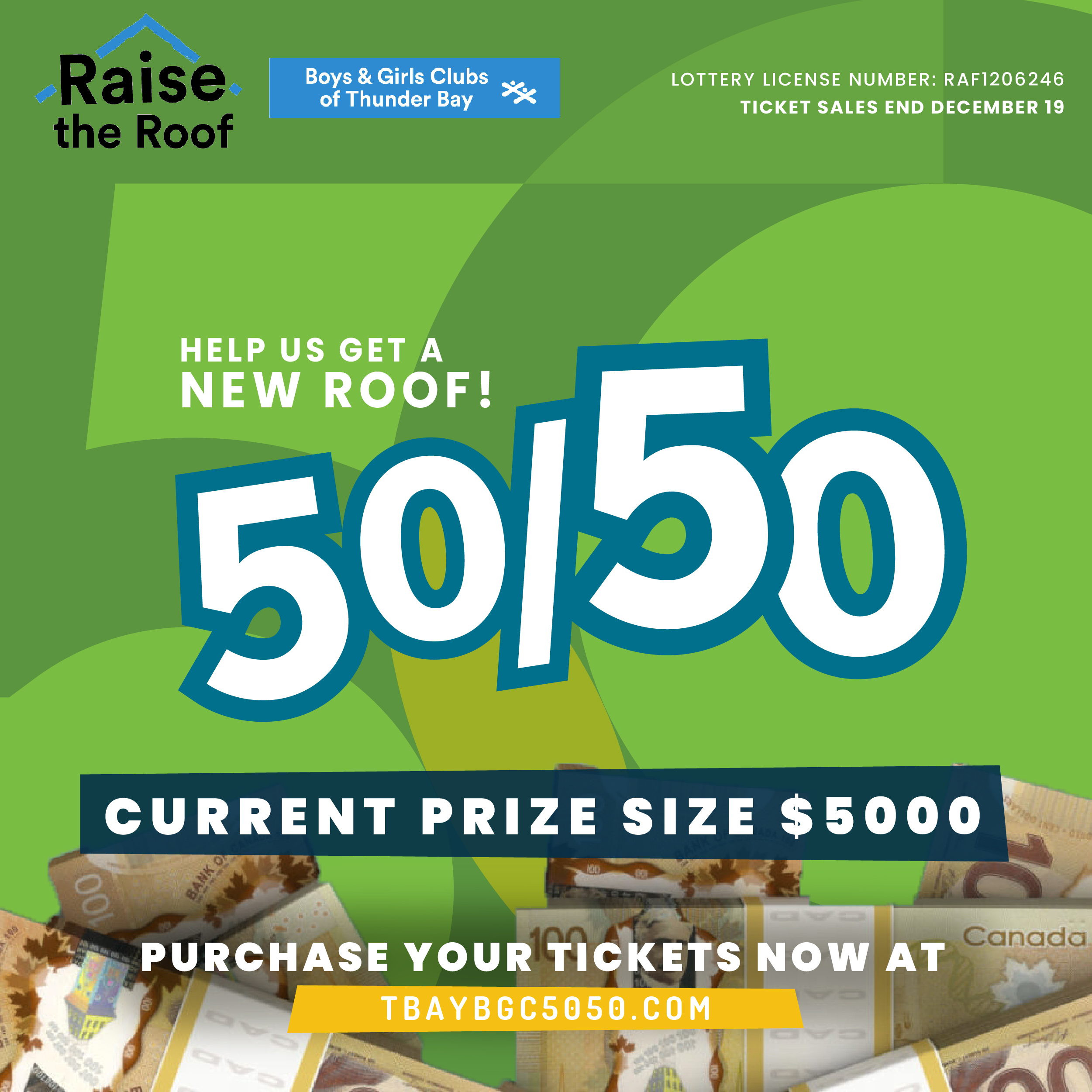 Raise the Roof 50 /50 draw - #2